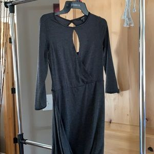 Asymmetrical guess gray knit dress